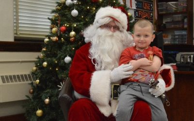 Talking to Santa for the first time…